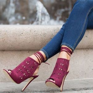 Oxblood Burgundy Strappy Sandal